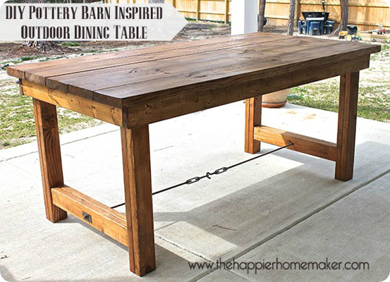 outdoor dining table diy photo - 3
