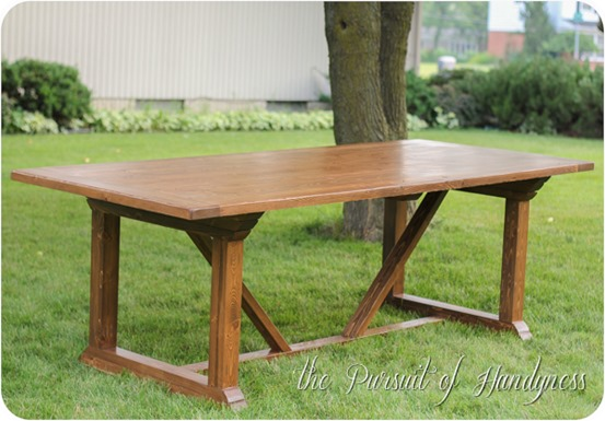 outdoor dining table diy photo - 6