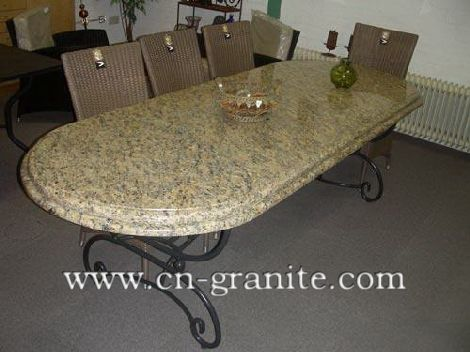 outdoor dining table granite photo - 2