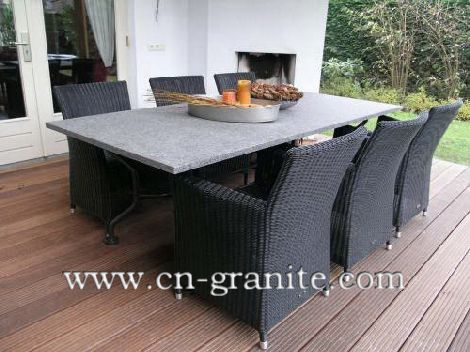 outdoor dining table granite photo - 4