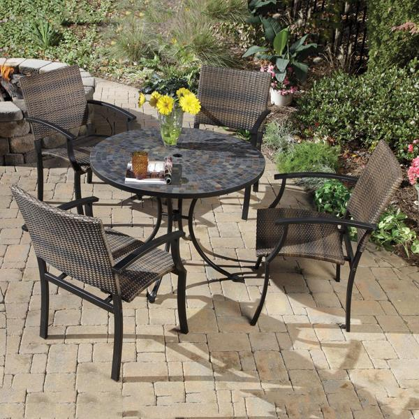 outdoor dining table granite photo - 5