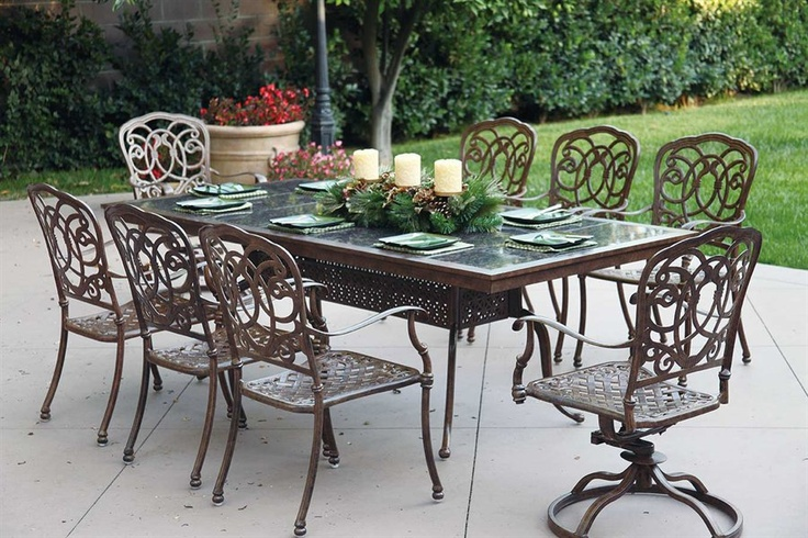 outdoor dining table granite photo - 6