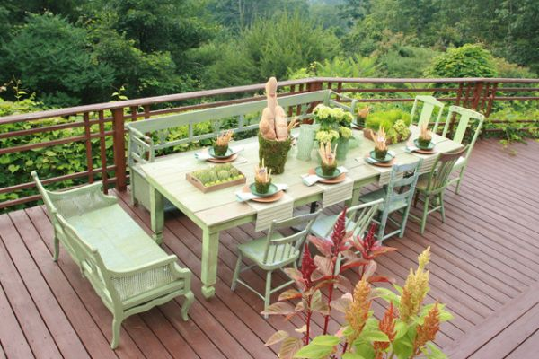 outdoor dining table ideas photo - 1