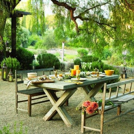 outdoor dining table ideas photo - 2