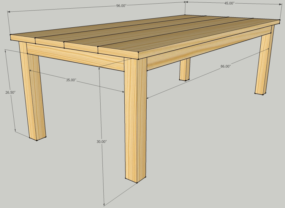 Patio Table Dimensions - Modern Patio
