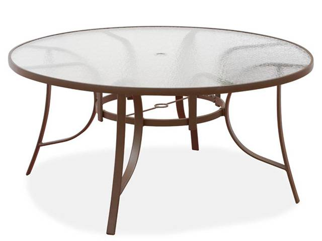 outdoor dining table replacement glass photo - 1