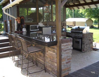 outdoor kitchen and bar designs photo - 3