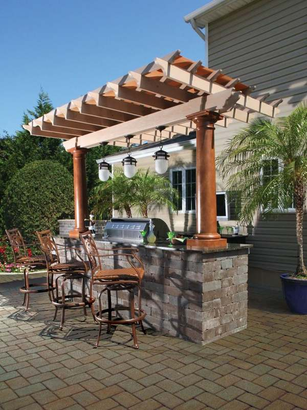 outdoor kitchen and patio omaha photo - 1