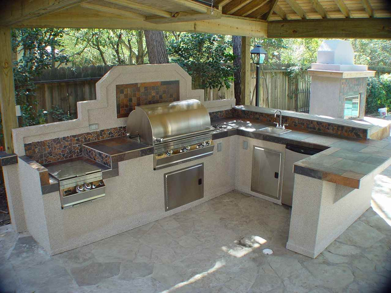 outdoor kitchen flooring ideas photo - 2