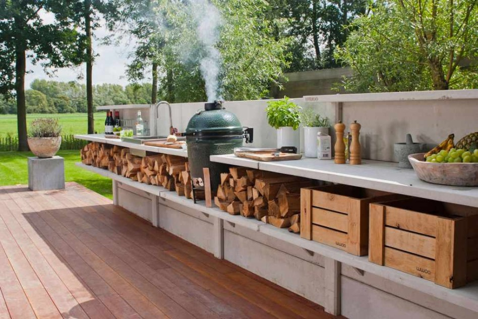 outdoor kitchen flooring ideas photo - 6