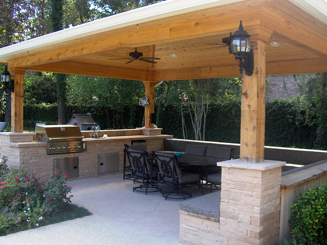 outdoor kitchen gazebo photo - 2