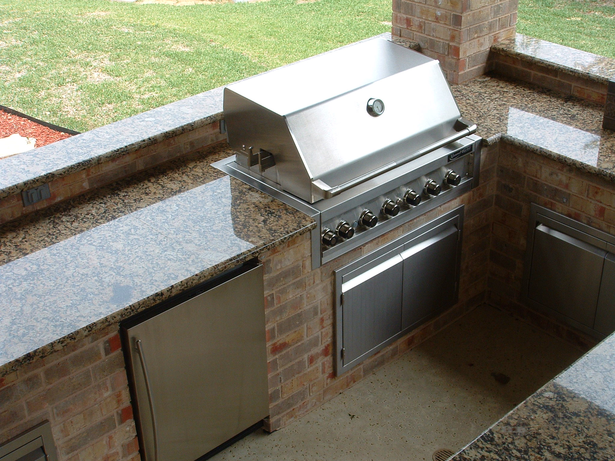outdoor kitchen granite countertops interior exterior
