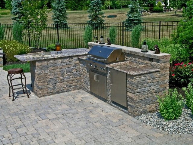 outdoor kitchen granite countertops photo - 2