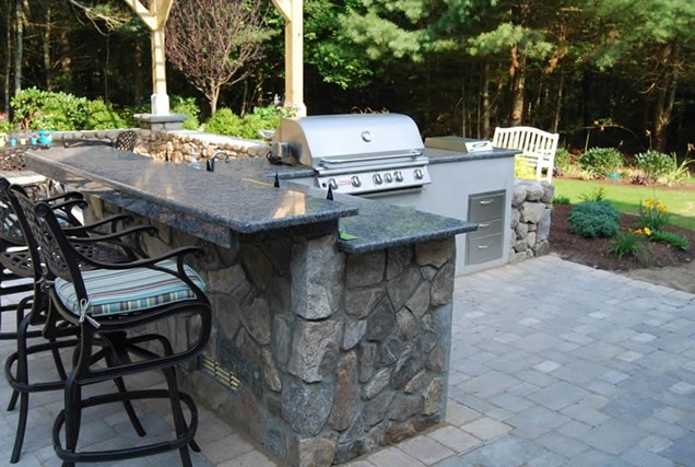 outdoor kitchen granite countertops photo - 3