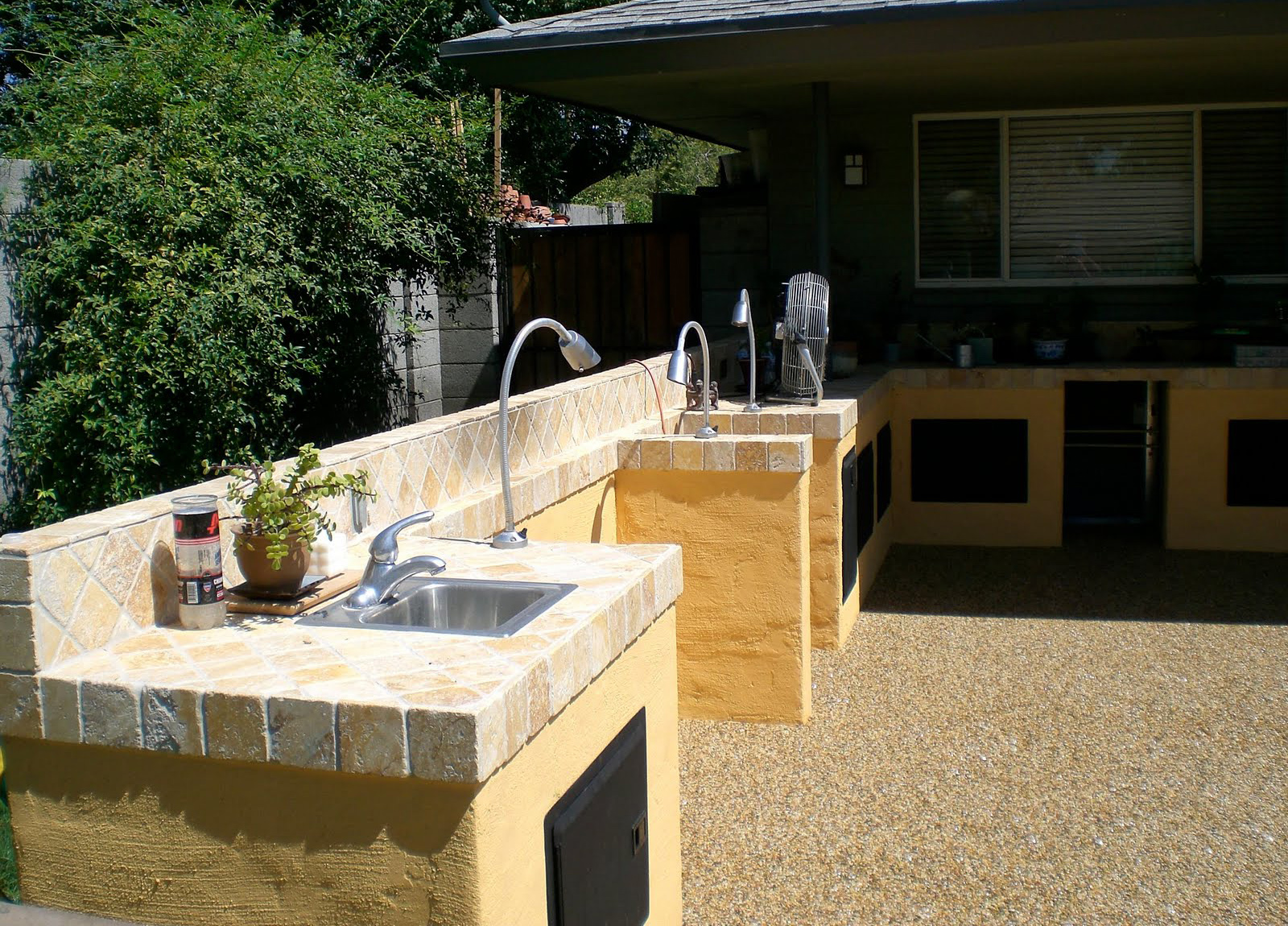 outdoor kitchen granite countertops photo - 6