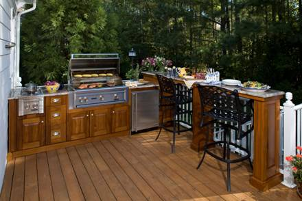 outdoor kitchen on deck photo - 3