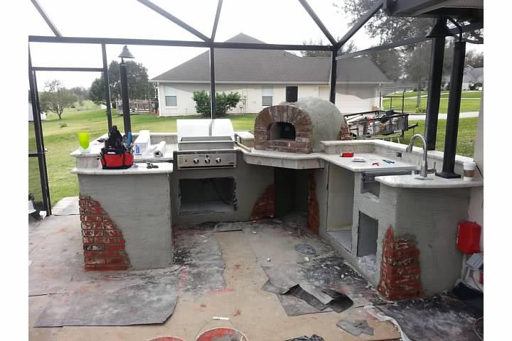 outdoor kitchen oven photo - 5