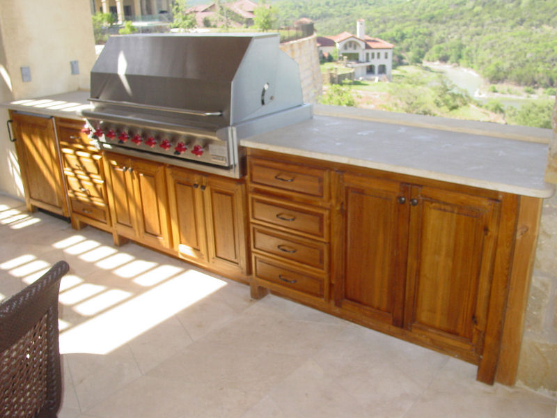 Outdoor Kitchen Wood Cabinets - Your Best And Easy Outdoor Furniture | Interior U0026 Exterior Ideas