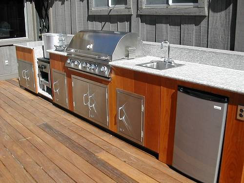 Wood Cabinets For Outdoor Kitchen