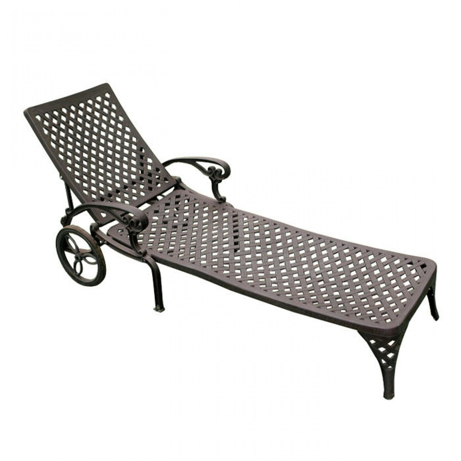 outdoor lounge chairs aluminum photo - 1