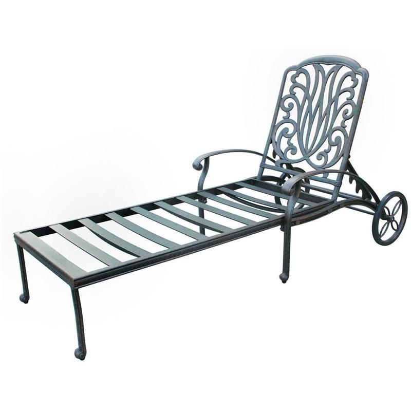 outdoor lounge chairs aluminum photo - 2
