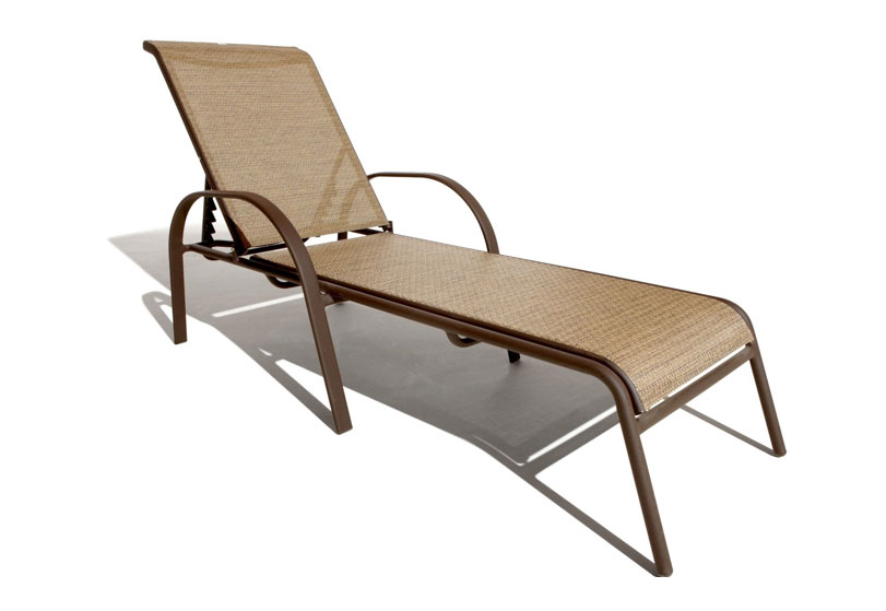 outdoor lounge chairs aluminum photo - 3