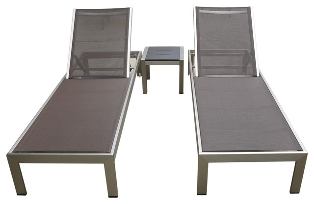 outdoor lounge chairs aluminum photo - 4
