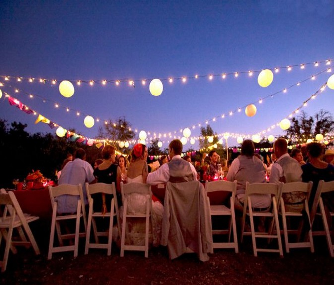 outdoor party lights ideas photo - 1