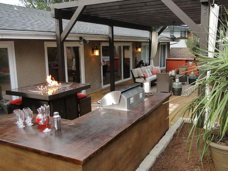outdoor patio bar designs photo - 3
