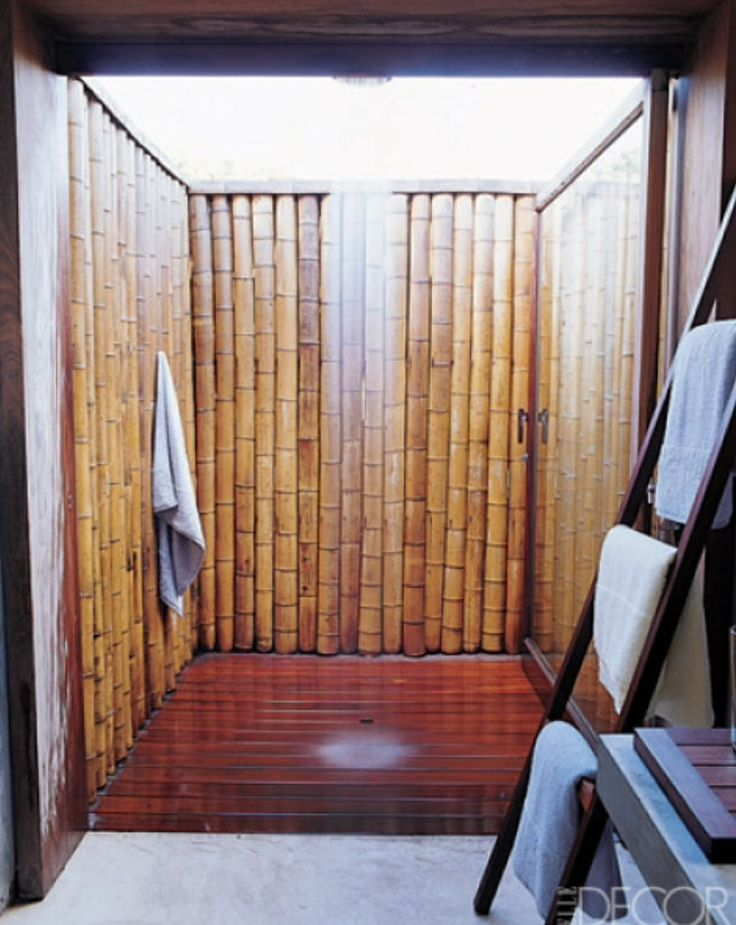 outdoor shower bamboo photo - 5