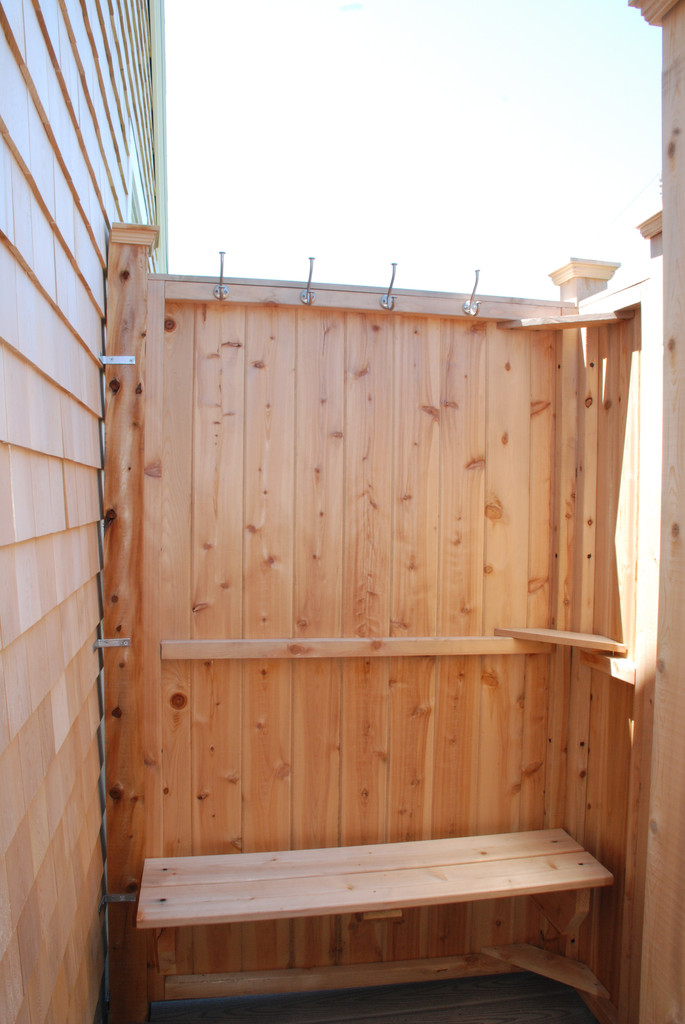 outdoor shower bench photo - 1