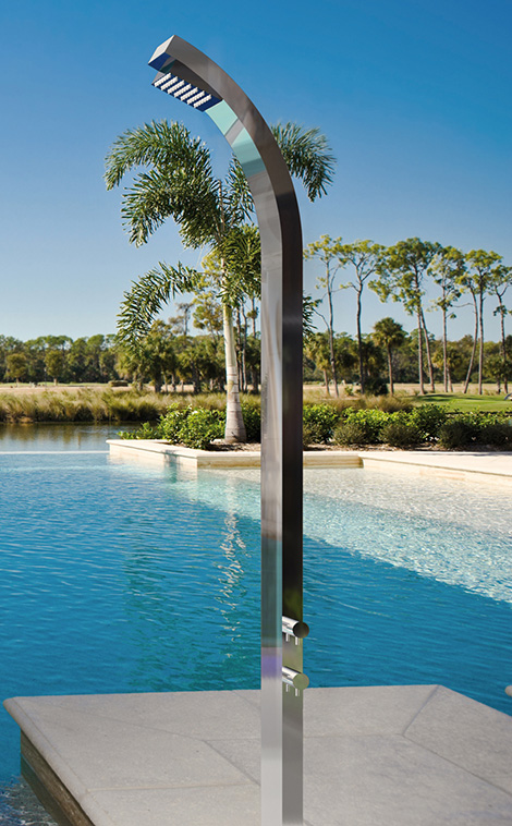 outdoor shower for pool photo - 6