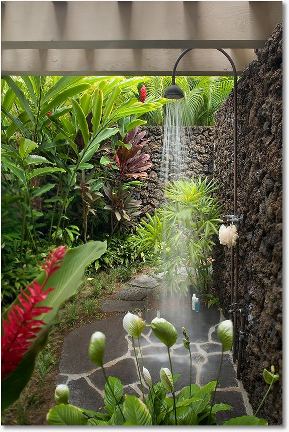 outdoor shower garden photo - 1