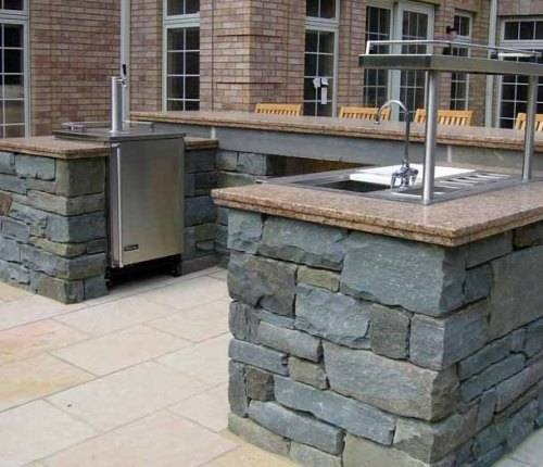 outdoor stone bar designs photo - 1