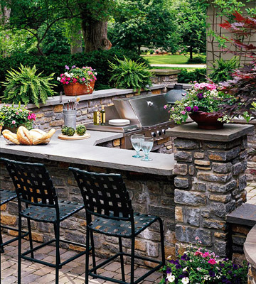 outdoor stone bar designs photo - 3