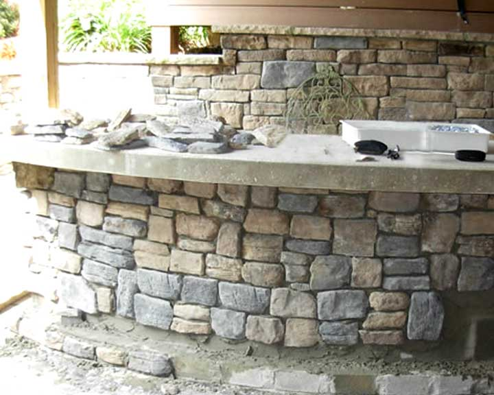 outdoor stone bar designs photo - 4