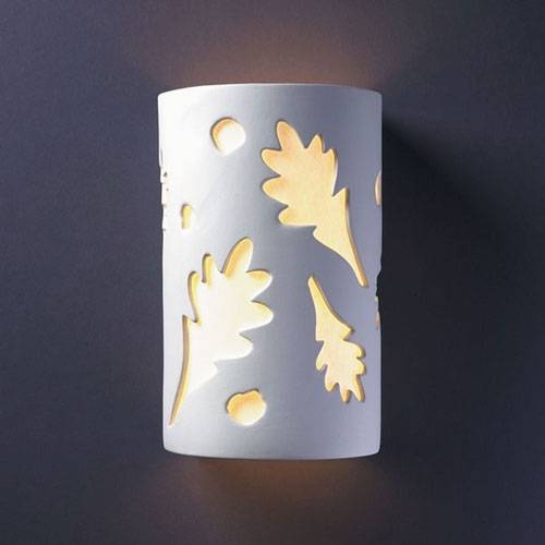 outdoor wall light leaves photo - 1