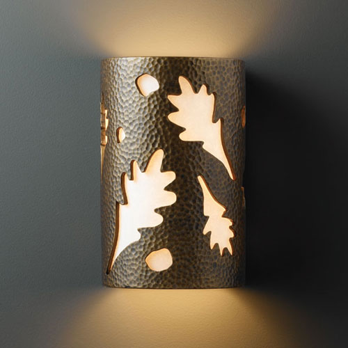 outdoor wall light leaves photo - 2