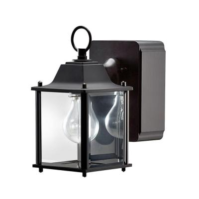 outdoor wall light with built in outlet photo - 4