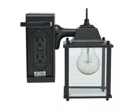 Attractive Outdoor Wall Light With Built In Outlet Photo   5