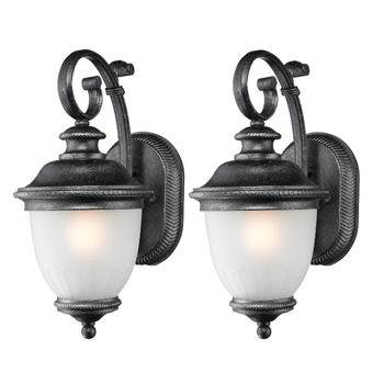outdoor wall lighting 2 pack photo - 2