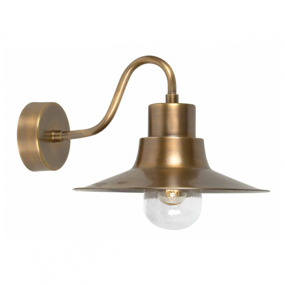 outdoor wall lighting brass photo - 1