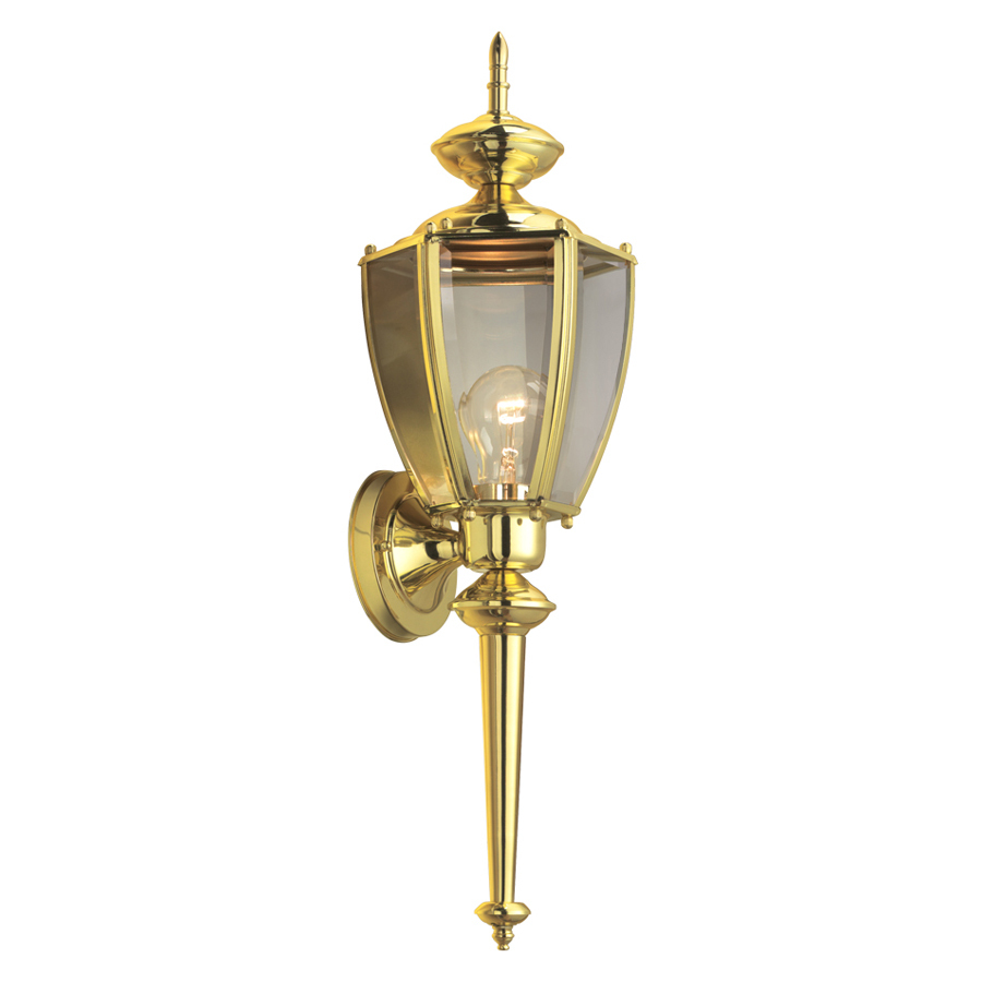 outdoor wall lighting brass photo - 4