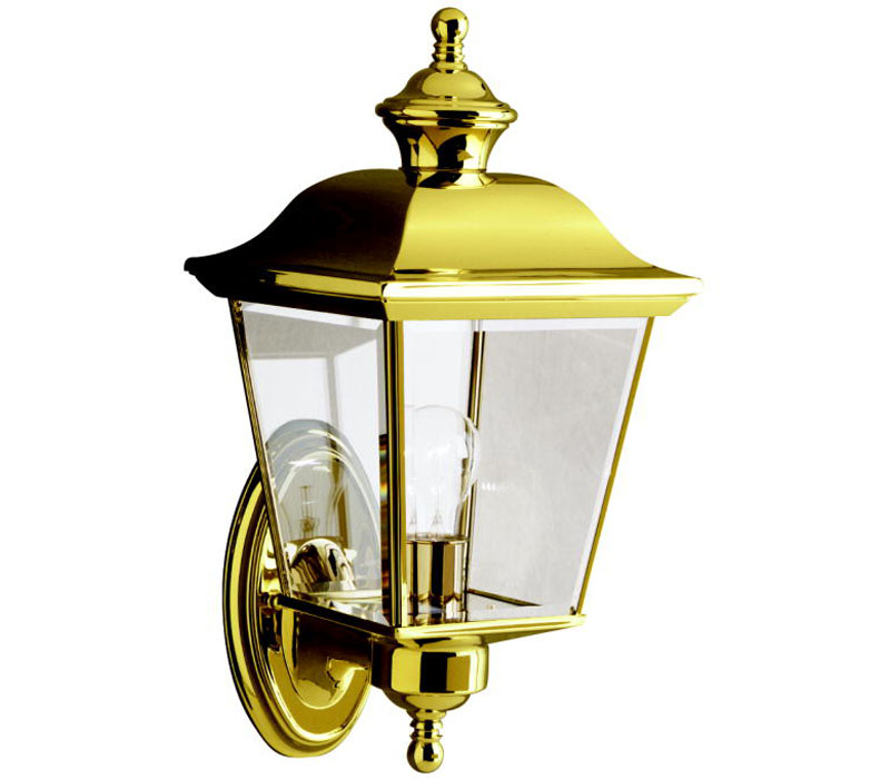 outdoor wall lighting brass photo - 5