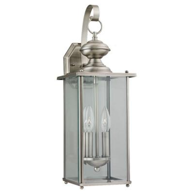 outdoor wall lighting brushed nickel photo - 2