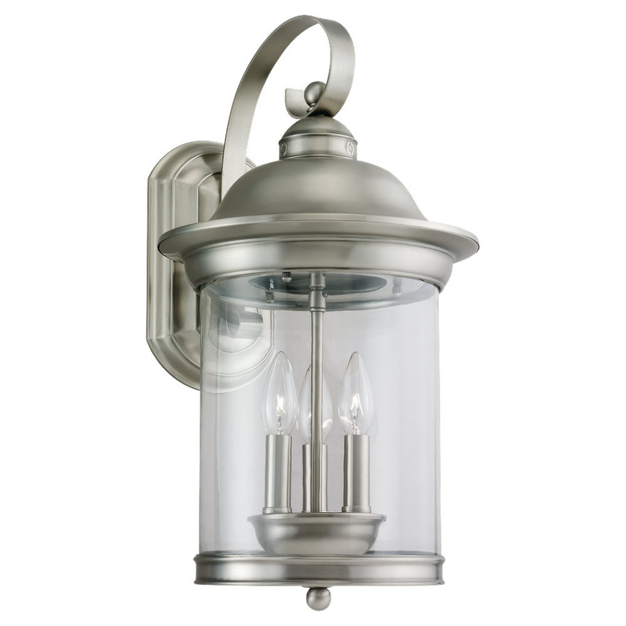 outdoor wall lighting brushed nickel photo - 5