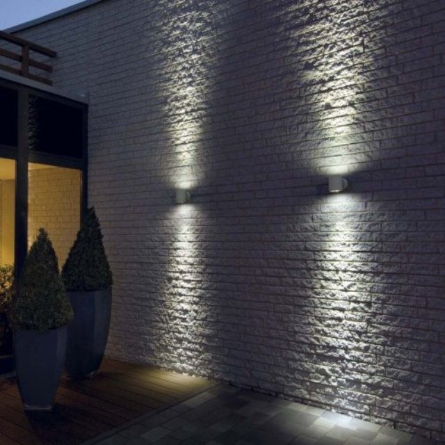 outdoor wall lighting design photo - 5