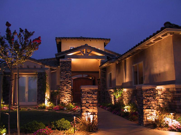 outdoor wall lighting ideas photo - 2
