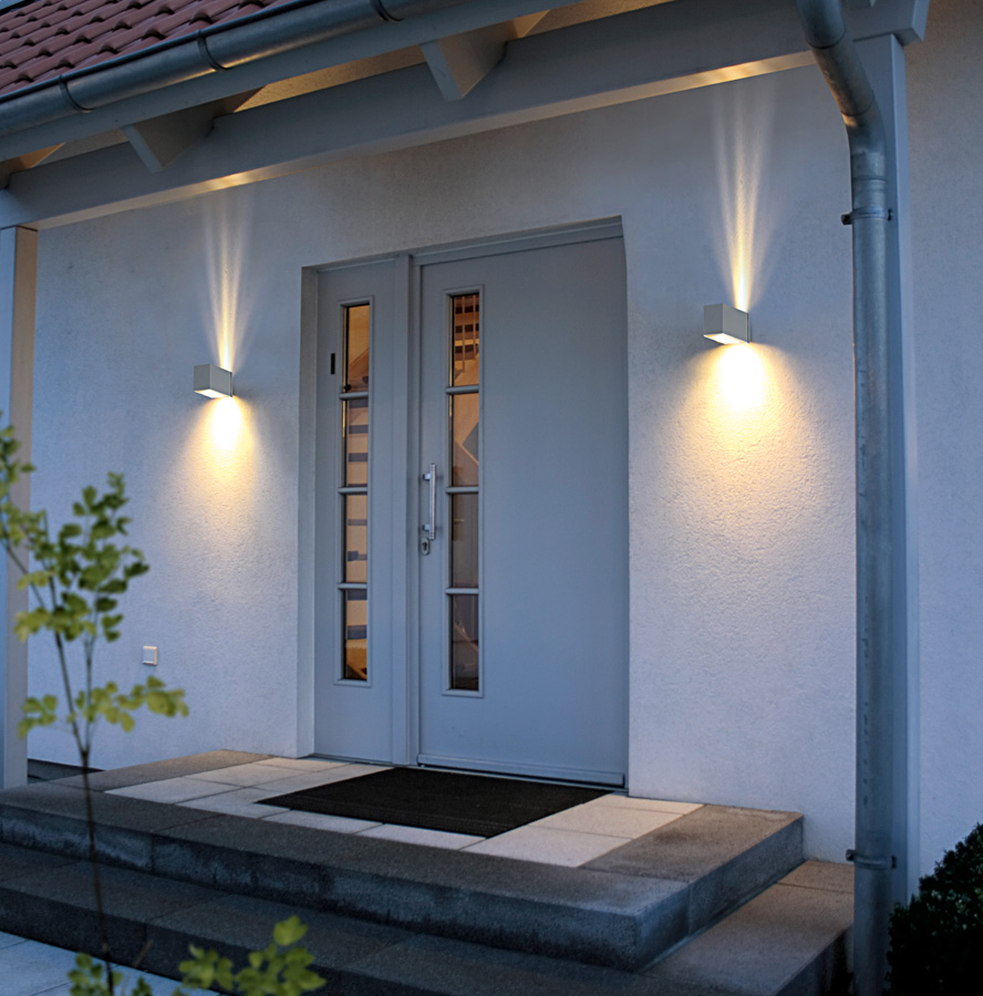 outdoor wall lighting up and down photo - 1