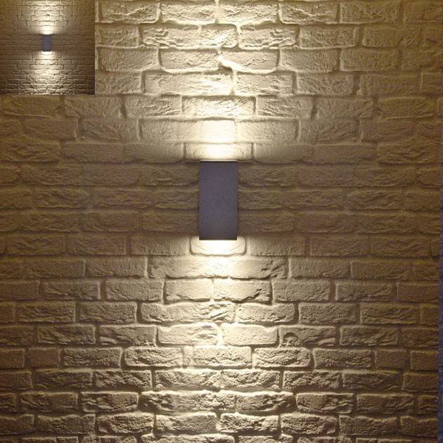 outdoor wall lighting up and down photo - 5